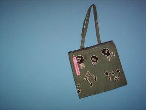Handpainted green bag