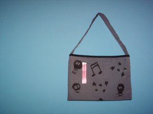 Handpainted grey bag