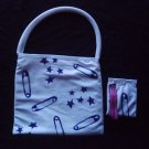 Handpainted white bag + purse