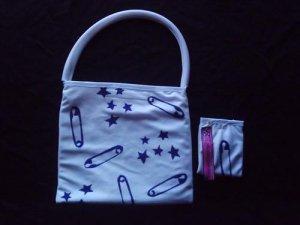 Handpainted white bag + purse