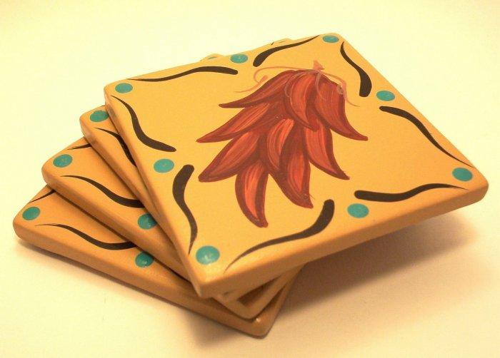 Coasters Ceramic Chili Ristra