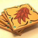 Coasters Ceramic Chili Ristra