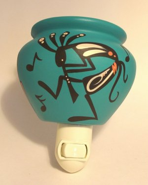 Night Light Southwestern Turquoise Kokopelli
