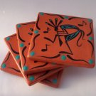 Coasters Terra Cotta Kokopelli