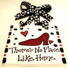 Ruby Slipper Handpainted Tile
