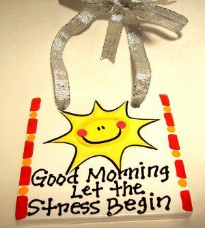 Good Morning Handpainted Tile