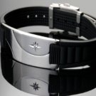 ELECTRIFIED FEEL BETTER EJNP-D007 Silicone & Steel Bracelet with 1 Zircon Stone