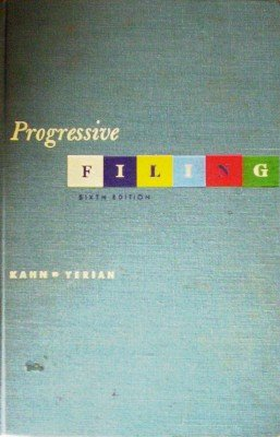 Progressive Filing by Kahn, Gilbert