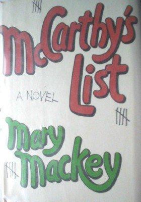 McCarthy's List by Mackey, Mary