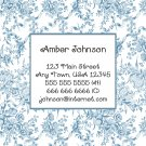 Blue Toile Calling Cards / Business Cards