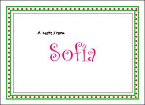 Cute & Sweet Personalized Note Cards