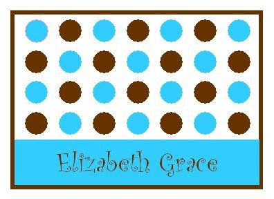 Blue Lotsa Dots Personalized Note Cards