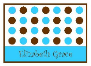 Blue Lotsa Dots Personalized Note Cards