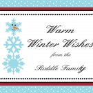 Personalized Holiday Frosty Snowman Note Cards
