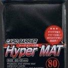 KMC HYPER MAT BLACK 80 Standard Size Card Barrier Sleeves Deck Protector Matte