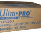 1 CASE 10,000 sleeves ULTRA PRO SOFT CARD SLEEVES **NEW** No PVC Penny 100 packs