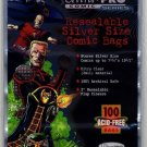 (100) Ultra Pro Silver Age Size Resealable Bags Poly Comic Book Acid Free