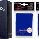 Ultra-Pro BLUE DECK BOX + 100 BLUE SLEEVES (for Magic/MTG/Pokemon Cards) NEW