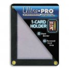 Ultra Pro 4-Screw 1-Card Black Border Screwdown Card Holder Recessed Ultra Clear