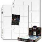 200 BCW Pro 9 Pocket Trading Card Album Pages - 9 slot 3-Ring binder sheets