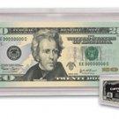 (5) BCW Regular Small Bill Currency Slab Acrylic Holders