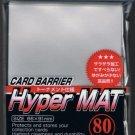 KMC HYPER MAT CLEAR 80 Standard Size Card Barrier Sleeves Deck Protector Matte