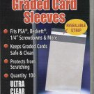 Lot of (1,000) ~ Ultra Pro ReSealable Graded Card Bags Sleeves ~ 10 Packs ~ 1000