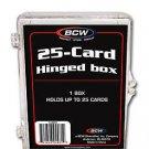 20 BCW 25 Count Hinged Plastic Baseball Trading Card Boxes protector hinge box
