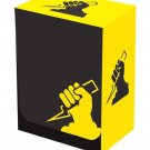 Legion Iconic YELLOW LIGHTNING BOLT DECK BOX for Magic/MTG/Pokemon/YuGiOh Cards