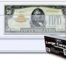 300 BCW Large Older Dollar Bill Currency Topload Holders hard plastic protectors