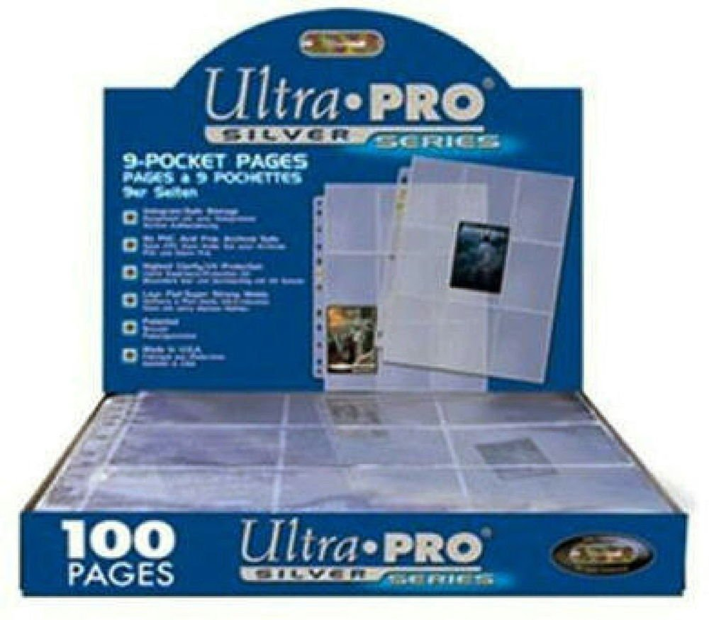 1 Case of 1000 Ultra Pro SILVER 9 Pocket Sportscard Baseball Card Pages Sheets