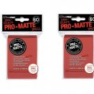 (120x) Ultra Pro RED Pro-Matte SMALL YUGI Deck Protector Sleeves