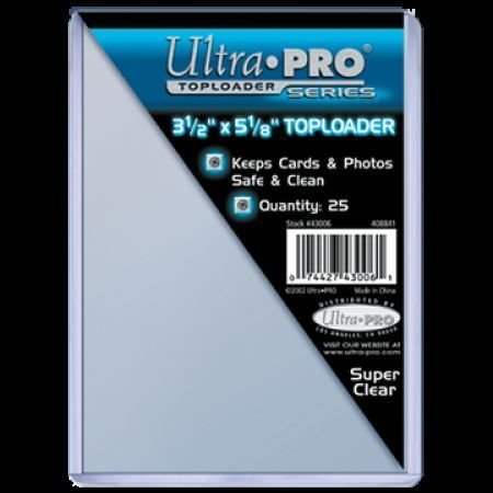 "(25) Ultra Pro 3.5"" x 5"" Toploaders (Index Photo Postcards) Topload Card Holder"