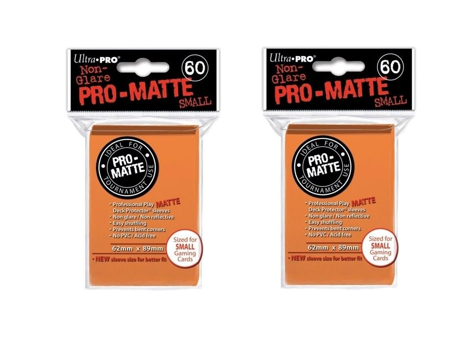 (120x) Ultra Pro ORANGE Pro-Matte SMALL YUGI Deck Protector Sleeves