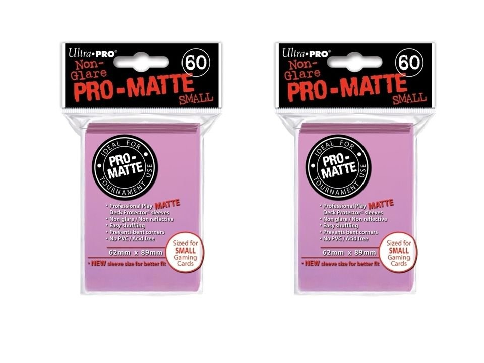 (120x) Ultra Pro PINK Pro-Matte SMALL YUGI Deck Protector Sleeves