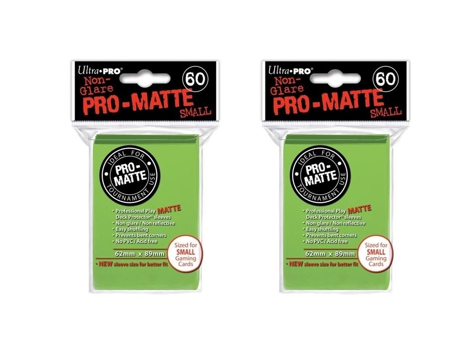 (360x) Ultra Pro LIME Pro-Matte SMALL YUGI Deck Protector Sleeves