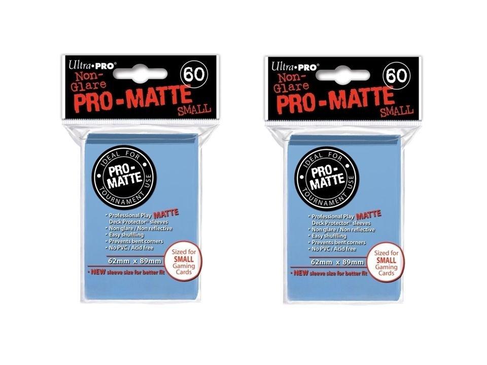 (360x) Ultra Pro LIGHT BLUE Pro-Matte SMALL YUGI Deck Protector Sleeves