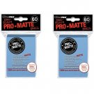 (360x) Ultra Pro LIGHT BLUE Pro-Matte SMALL YUGI Deck Protector Sleeves