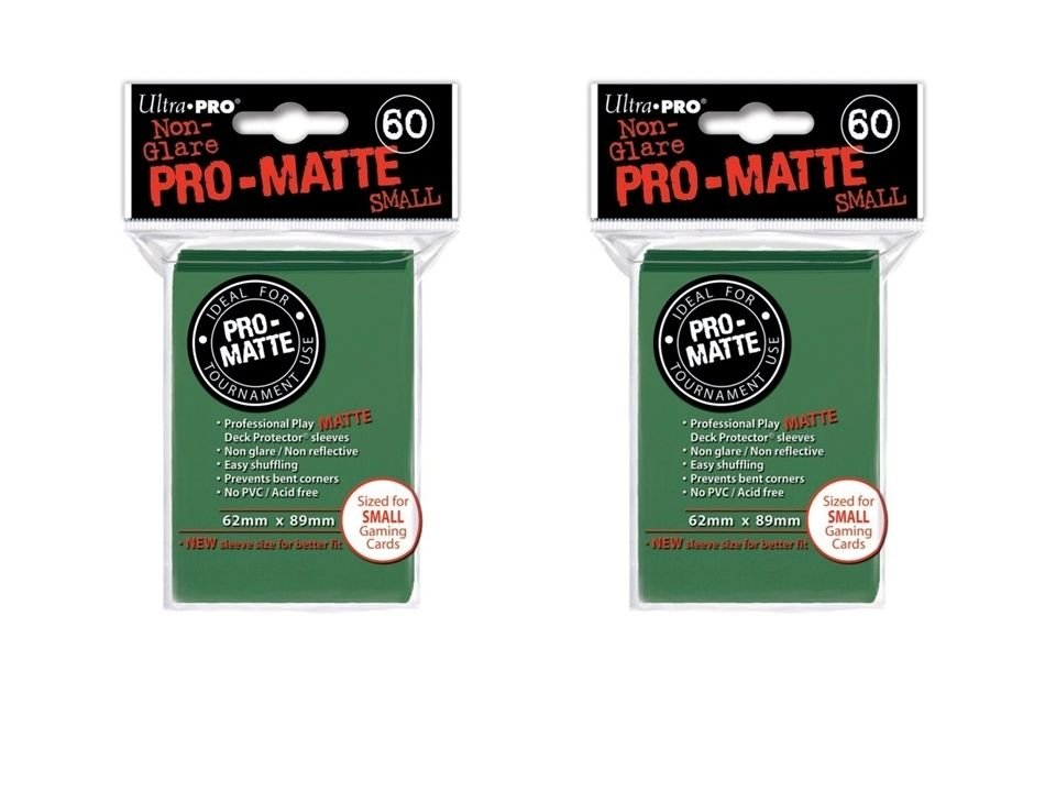 (120x) Ultra Pro GREEN Pro-Matte SMALL YUGI Deck Protector Sleeves