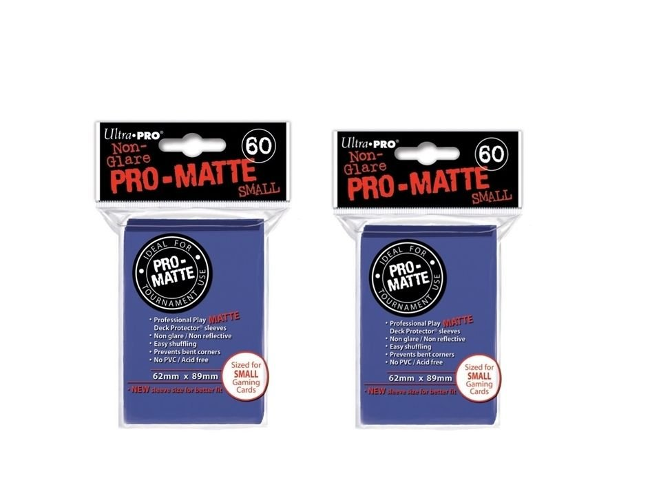 (120x) Ultra Pro BLUE Pro-Matte SMALL YUGI Deck Protector Sleeves