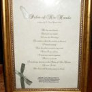 """1 Framed Christian poem """"Palm of His Hands"""" By Author and poet Feon Davis"""