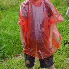 10 CHILDRENS CHILDS WATERPROOF RAIN PONCHOS CAPE MAC RED EMERGENCY RAIN-WEAR