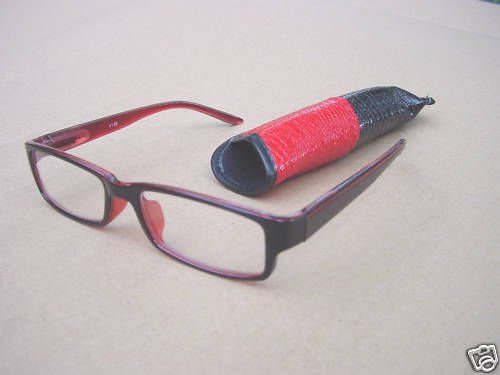 READING GLASSES RED/BLACK SPRING TEMPLE+ 2.5  +2.50