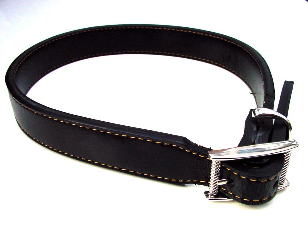 "MAGNETIC BIO THERAPY LEATHER DOG COLLAR 20"" LONG MEDIUM DOG"