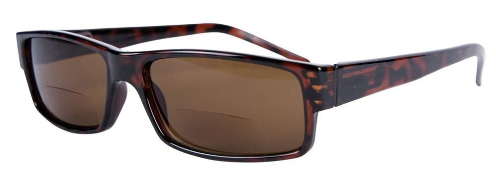 UNISEX BIFOCAL READING SUNGLASSES TORTOISESHELL +1.25 CAPRI