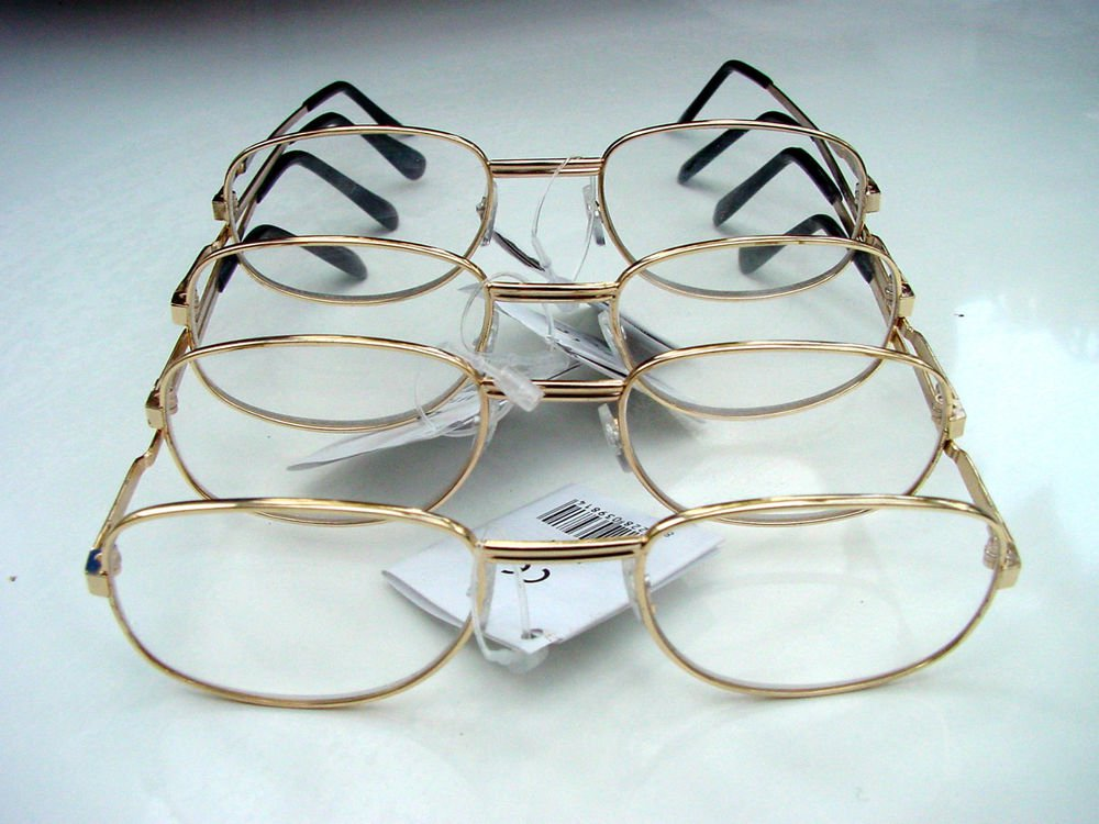 4 PAIRS OF READING GLASSES SILVER METAL FRAMES +3.5 M141