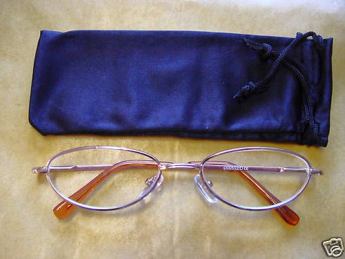 NEW SPRUNG ARM READING GLASSES +2.0 GILT OVAL D502