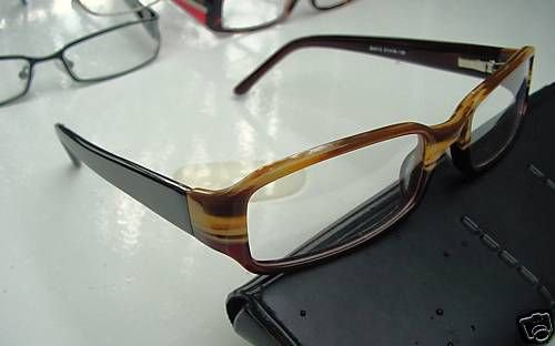 NEW QUALITY DESIGNER OPTICAL FRAMED GLASSES BROWN/BEIGE