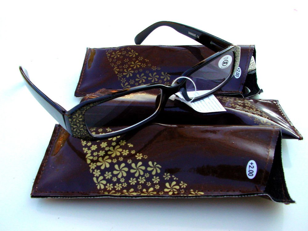 3 PAIRS OF STYLISH READING GLASSES DESIGNER BROWN GOLD +1.0 D503