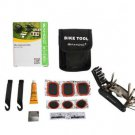 NEW QUALITY BICYCLE REPAIR PUNCTURE KIT BAG SPORT TRAVEL FIX MULTI TOOLS SAHOO